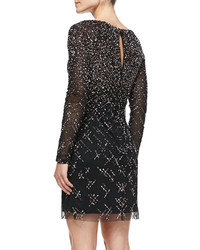 fea30fa16bd ... Aidan Mattox Long Sleeve Beaded Sequined Cocktail Dress