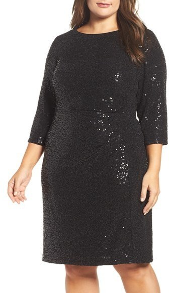 $168, Vince Camuto Plus Size Sequin Sheath Dress