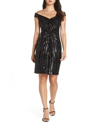 Vince Camuto Sequin Off The Shoulder Dress
