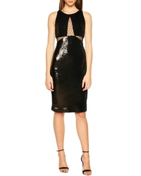 Bardot Splice Sequin Sheath Dress