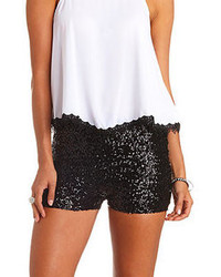 Charlotte Russe High Waisted Sequin Shorts
