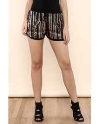 San Joy Gold Sequin Shorts