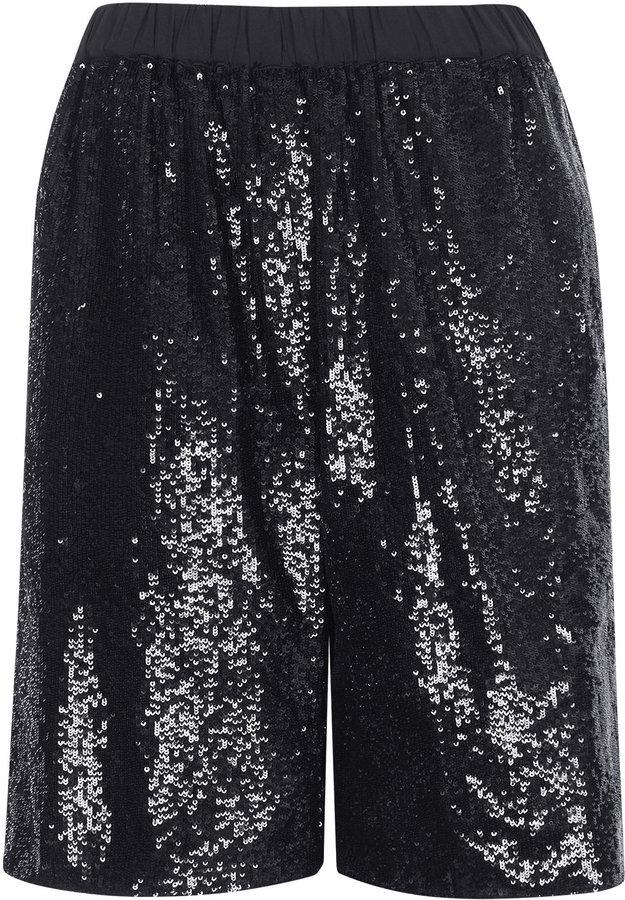 1917520c89 Topshop Sequinned Longline Shorts, $130   Topshop   Lookastic.com