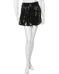 Diane von Furstenberg Silk Sequin Accented Shorts W Tags