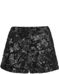 ac7c190891 Women's Black Sequin Shorts by Topshop | Women's Fashion | Lookastic.com