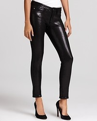 AG Adriano Goldschmied Ankle Legging Sequin Pants