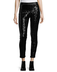Blank NYC Sequined Faux Leather Leggings