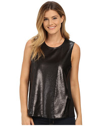 Dknyc Soft Shine Sequin Cdc Back Top