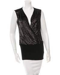 Tory Burch Sequined Wool Knit Top