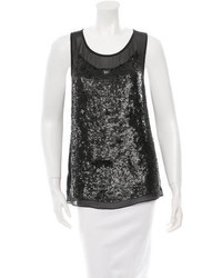Gryphon Silk Sequined Top