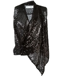 Victoria Beckham Draped Sequin Top