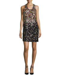 Black Sequin Tank Dress
