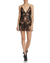 Free People Night Shimmer Sequined Lace Mini Dress