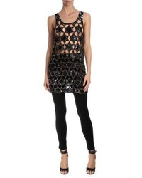 Givenchy Star Embellished Cocktail Tank Dress Black