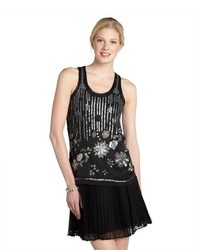 Romeo & Juliet Couture Black Sequined Racerback Tank
