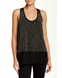 Eileen Fisher Scoop Neck Racerback Silk Tank