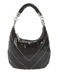 Whiting & Davis Little Black Mesh Shoulder Bag