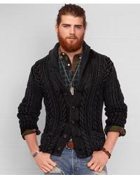 Denim & Supply Ralph Lauren Cable Knit Shawl Cardigan