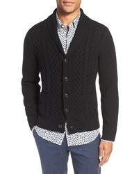 Cabled shawl collar cardigan medium 859994