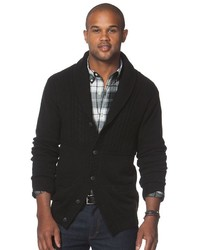 Chaps Classic Fit Textured Cardigan Sweater