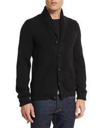 Iconic shawl collar cardigan black medium 859992