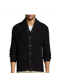 Claiborne Long Sleeve Shawl Collar Cardigan