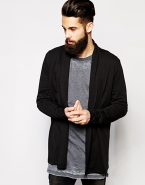 Asos Longline Cardigan With Shawl Collar In Jersey | Where to buy ...