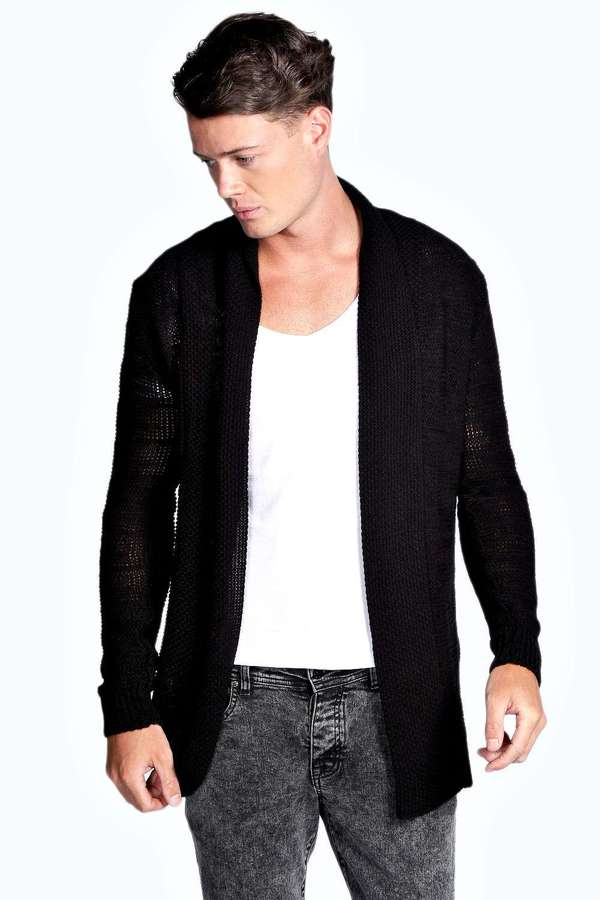 Boohoo Man Cardigan In Textured Yarn | Where to buy & how to wear