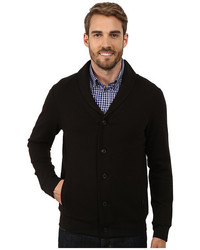 Perry Ellis Quilted Shawl Button Front Cardigan
