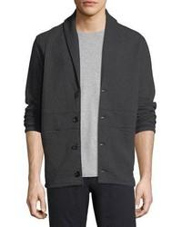 Billy Reid Shawl Collar Basketweave Cotton Cardigan Jacket