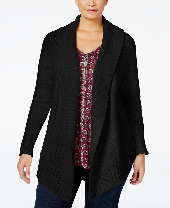 97b85d64490a5d Style&co. Style Co Plus Size Shawl Collar Cardigan Only At Macys, $79 |  Macy's | Lookastic.com