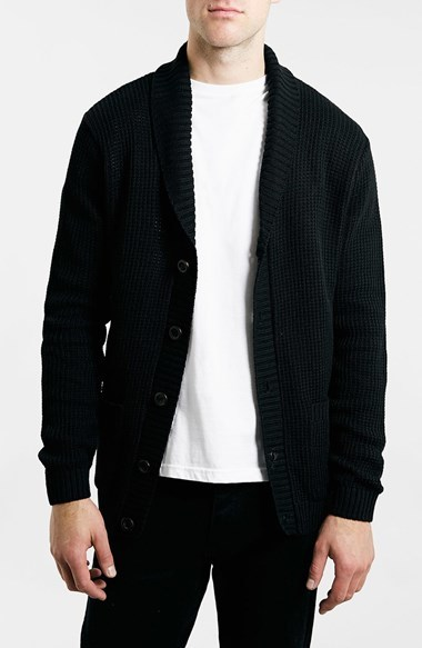Topman Textured Shawl Collar Cardigan | Where to buy & how to wear