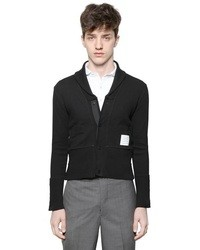 Thom Browne Cotton Jersey Shawl Collar Cardigan