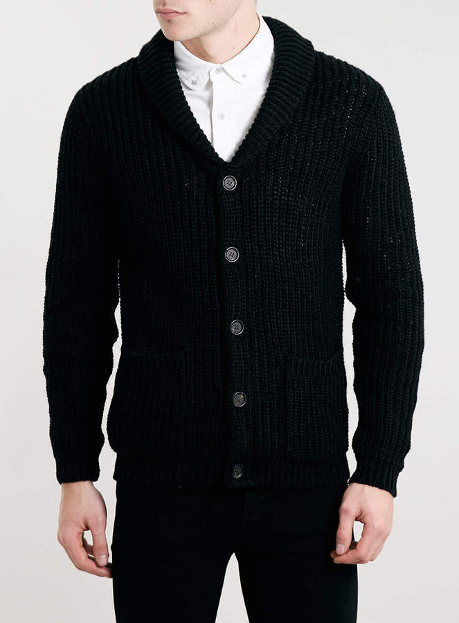 Topman Black Shawl Collar Cardigan | Where to buy & how to wear
