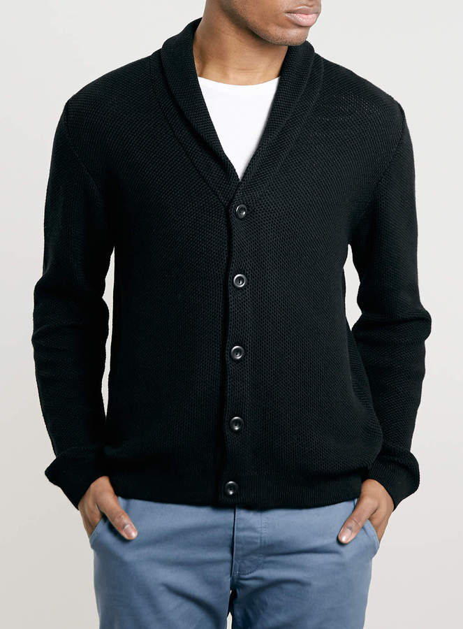 Topman Black Textured Cardigan | Where to buy & how to wear