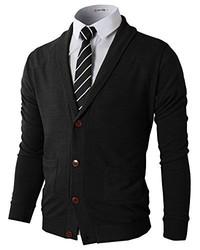 Black Shawl Cardigan