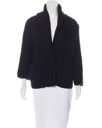 Dolce & Gabbana Wool Blend Shawl Collar Cardigan