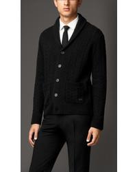Burberry Wool Cashmere Aran Cardigan