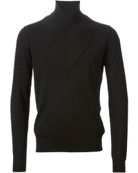 Black Shawl-Neck Sweater