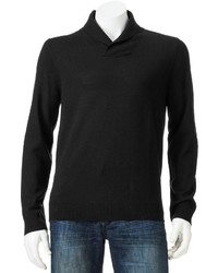 Apt. 9 Modern Fit Solid Merino Shawl Collar Sweater
