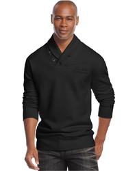 Sean John Solid Shawl Collar Sweater