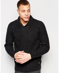 Scotch & Soda Structured Shawl Collar Pullover With Zip Detail At Left Sid