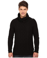 Scotch & Soda Twisted Hooded Yarn Pullover