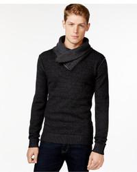 Retrofit Zip Shawl Collar Sweater
