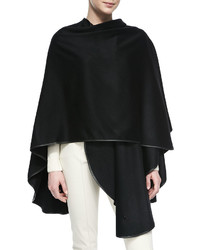 Mantella regina unita cashmere cape black medium 424368