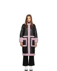 Stand Studio Black And Purple Riley Coat