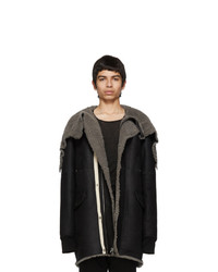 Rick Owens Black Brother Parka