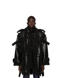 Ottolinger Black Vegan Teddy Duffle Coat