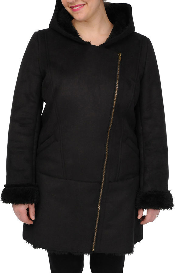 jcpenney Excelled Leather Excelled Faux Shearling 34 Length Coat