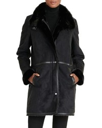 Faux shearling coat medium 817542